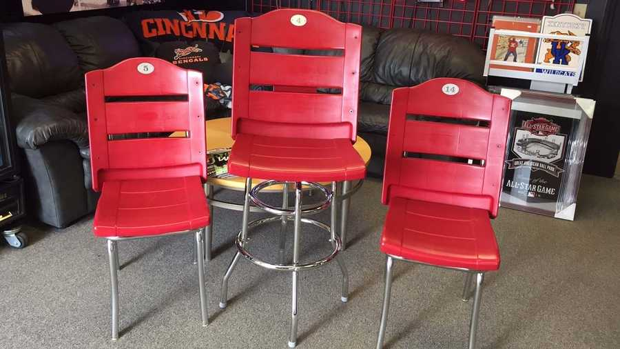 Old Gabp Seats Converted Into Bar Stools Diner Chairs
