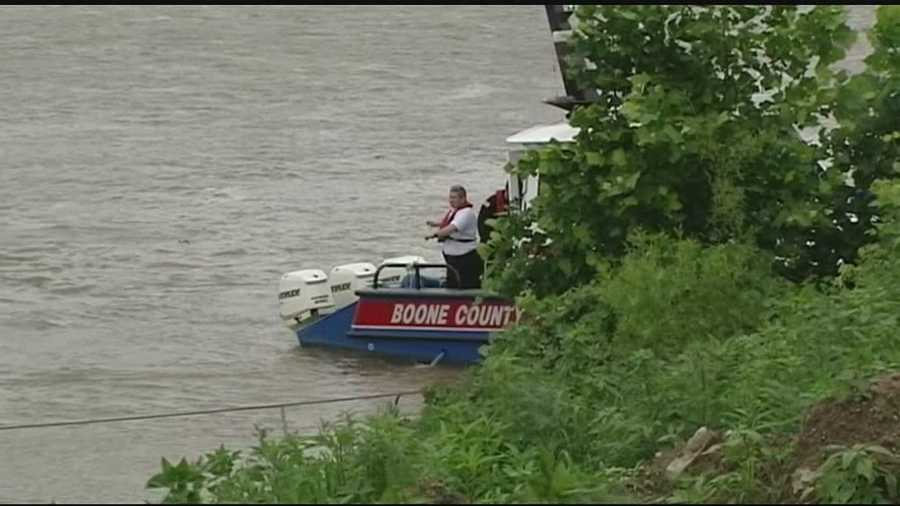 Recovery crews continued their search Saturday for the man who was swept away after driving his tractor into the Ohio River. The Boone County water rescue team was on the scene searching for the missing 73-year-old man.