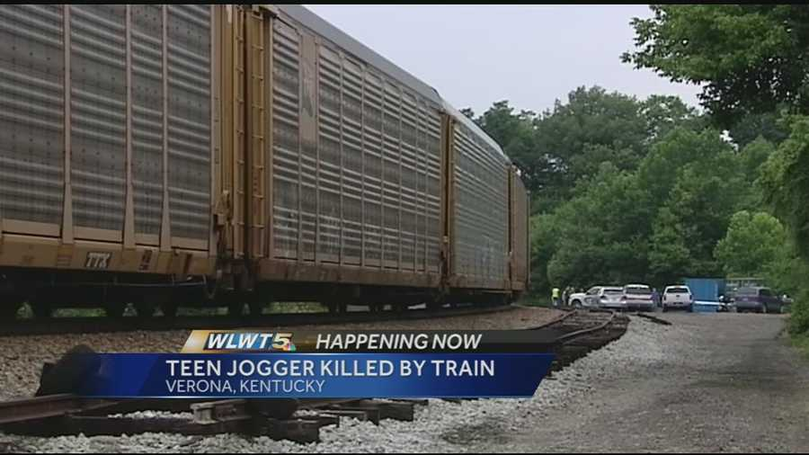 Elijah Wagers, 14, was jogging on the tracks with headphones on.