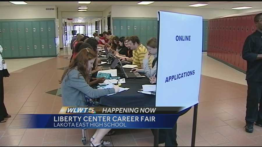 The shopping center hosted its second career fair at Lakota East High School Wednesday.