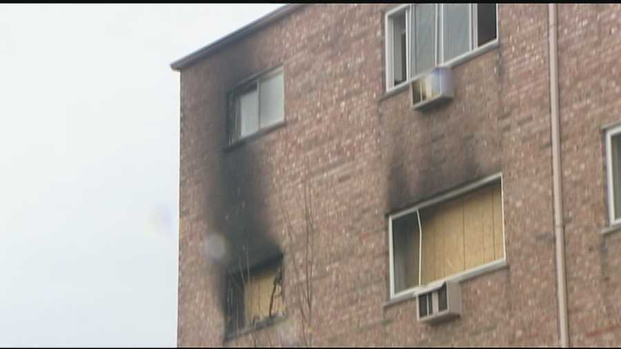 Fire breaks out on the fourth floor of a University Heights apartment taking UC students by surprise.
