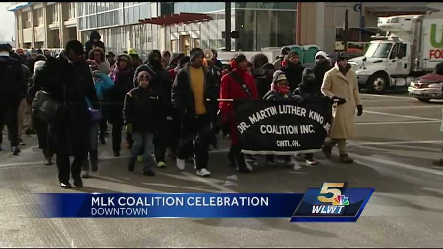 Hundreds braved the extreme cold to honor Dr. Martin Luther King Jr. at the annual march downtown on Monday.