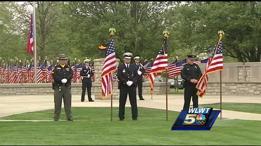 More than 700 Ohio peace officers who have died in the line of duty since 1823, including a Cincinnati police officer killed last year, are being honored at a ceremony in western Ohio.