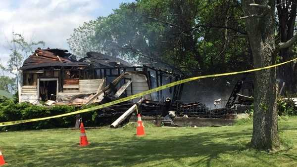A home on Tip Drive in Kenton County, Kentucky was destroyed by a fire May 15, 2016.