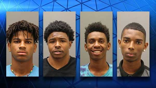 Five were arrested and charged with a home invasion in Blue Ash July 29, 2016. Left to right: Michael Cox, 18; Robert Tubbs, 19; Mykell Williams, 18 and Tremayne White, 18. Not pictured is an unnamed juvenile female.