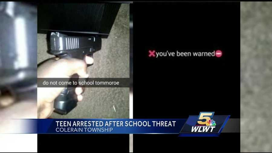 The student threatened to bring a gun to school, but police were able to quickly bring him into custody.