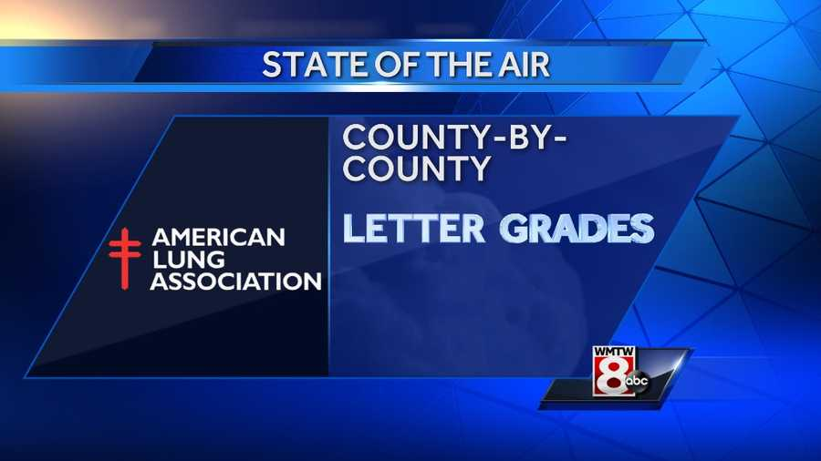 "The American Lung Association rated the air quality of each of Maine's counties. The data on air quality throughout the United States were obtained from the U.S. Environmental Protection Agency's Air Quality System.Orange Days are ""unhealthy for sensitive groups"". Red Days are ""unhealthy"". Purple Days are""very unhealthy"""