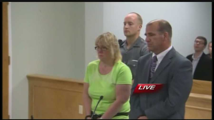 Joyce Mitchell was arraigned in Plattsburgh city court Friday night on felony charges. She is accused of befriending inmates David Sweat and Richard Matt at the Clinton Correctional Facility in Dannemora and giving them contraband.