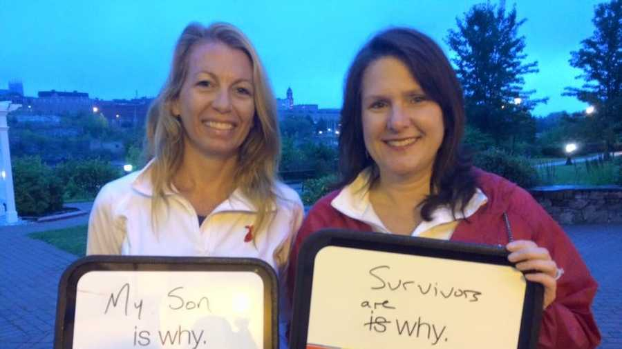 Two participants in Sunday's Central Maine Heart Walk share the reason for why they are participating.