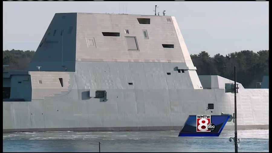 The future USS Zumwalt is so stealthy that the Navy tested reflective material to make it visible to mariners during recent sea trials.