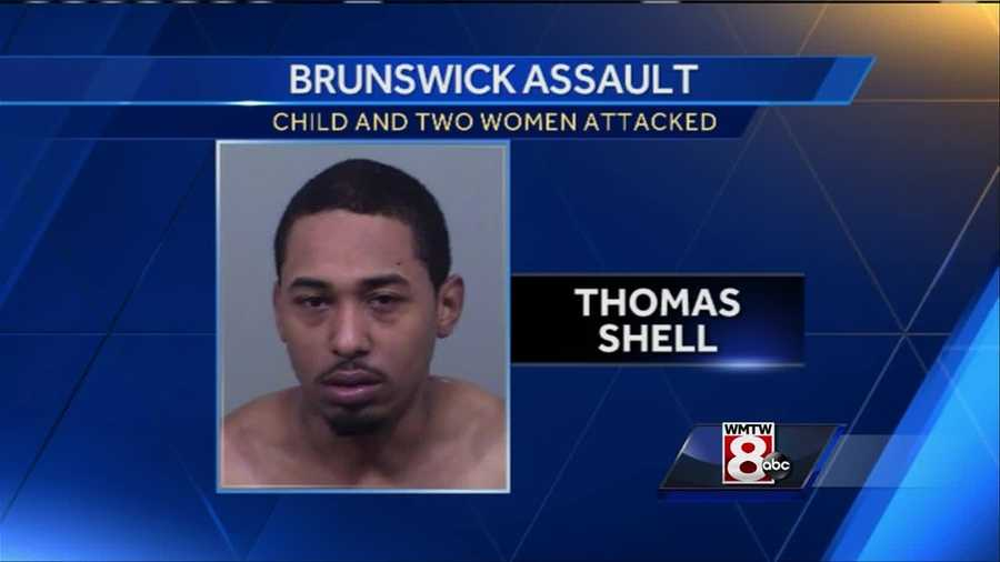 A Brunswick man is arrested for assaulting his girlfriend, ex-girlfriend, and 3-year-old son