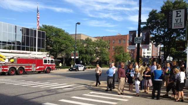 A building on Elm Street in Manchester was evacuated due to a gas main break.