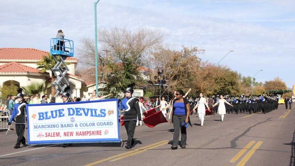 The Salem High School Marching Band performed in the Fiesta Bowl Parade