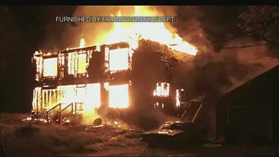 Firefighters battled a 2-alarm blaze at 59 Hawthorne Hill Road in Farmington late Monday night.