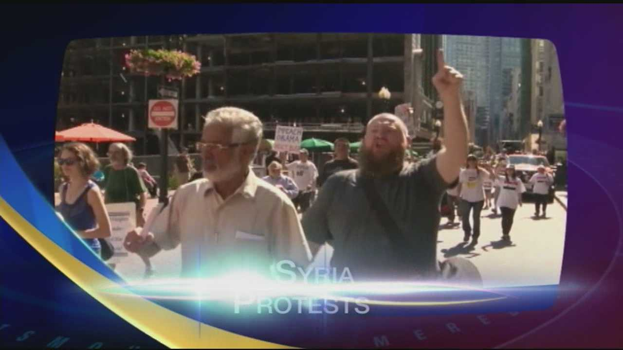 NH joins the rest of the Nation to protest military action in Syria.