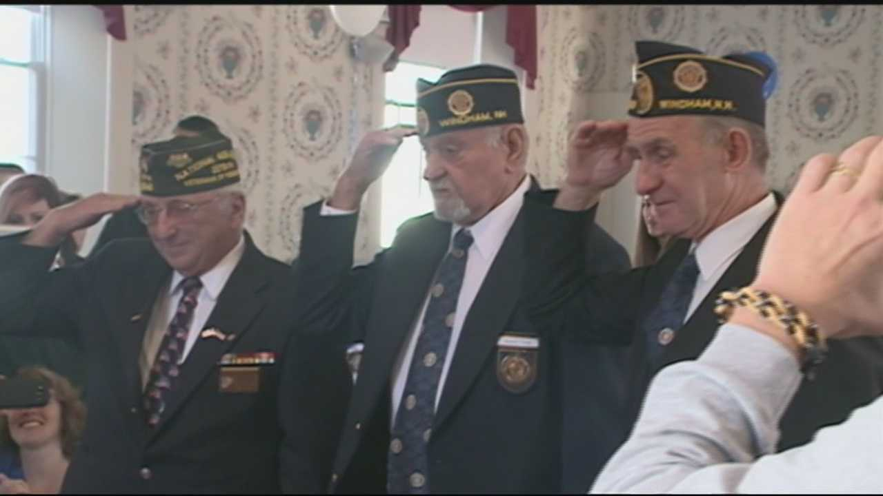 A World War II Veteran was honored on his 90th birthday