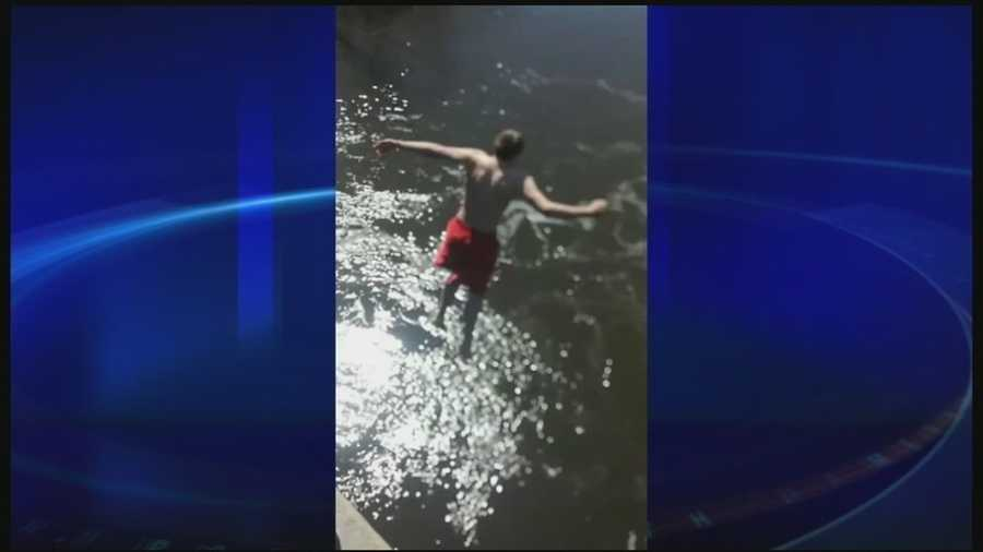 Fish and Game officials are warning people about the dangers of jumping into cold water.