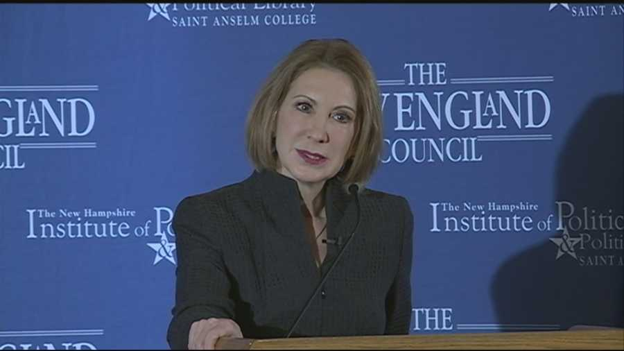 Former Hewlett-Packard CEO Carly Fiorina visited New Hampshire on Tuesday as she tried to build a case for a possible presidential run.