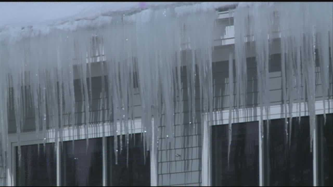 Snow loads on roofs in the region are causing concern, but safety officials said ice forming on roofs can also be hazardous, potentially causing fires and forcing dangerous gases back into a home.