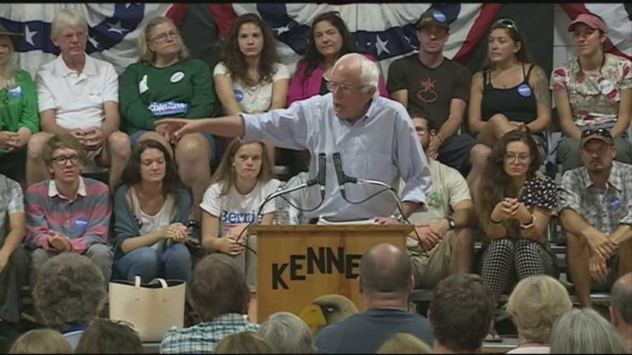 Democratic presidential candidate Bernie Sanders visited the northern part of New Hampshire on Monday and continued to say he's the candidate for the working class.