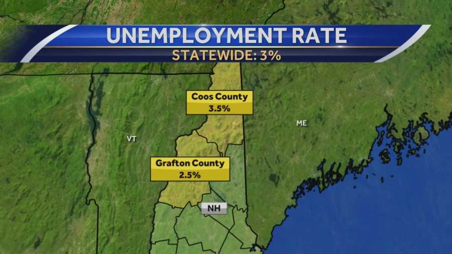 New job numbers released Thursday show that 3 percent of Granite Staters were unemployed in September, which is the lowest number in two years.