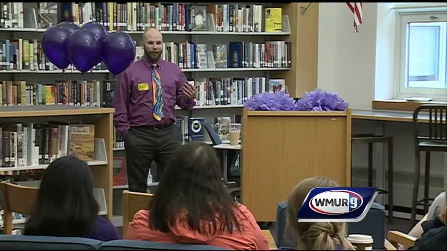 A senior at Bow High School is trying to raise awareness about the effects of drug addiction.