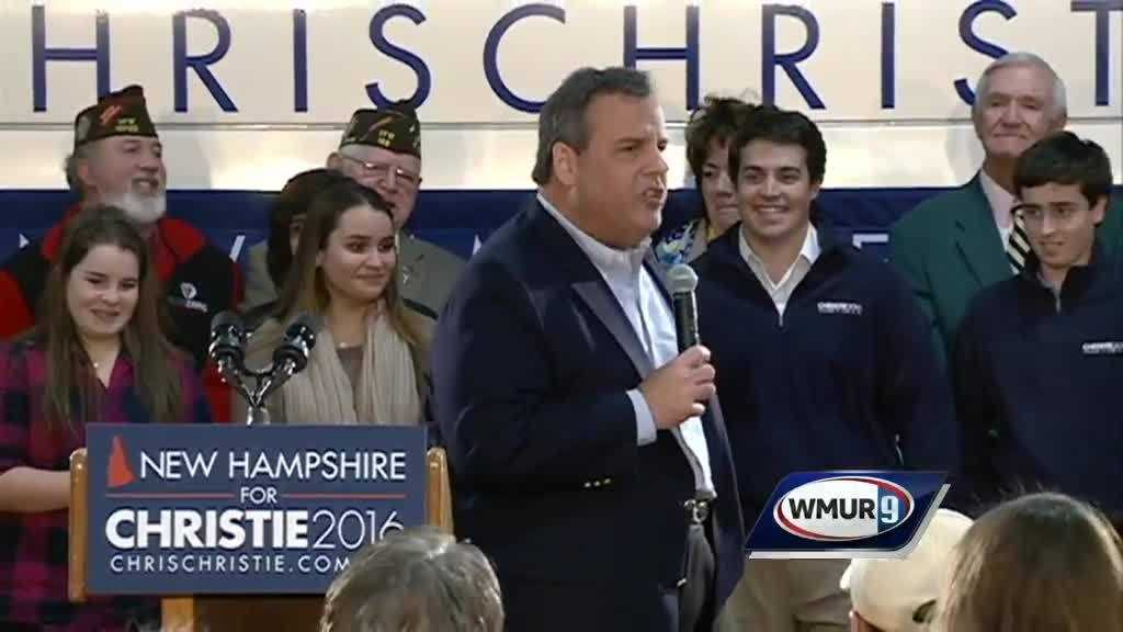 Chris Christie in Exeter