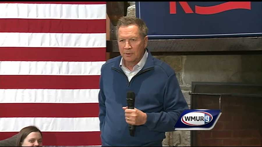 John Kasich campaigning in New Hampshire in 2016.