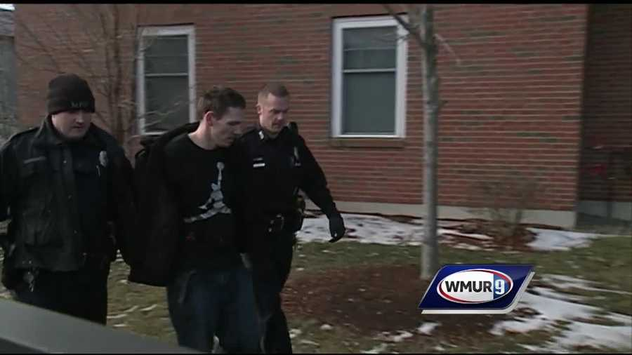 A man was arrested Wednesday morning after a foot chase in Manchester following a traffic stop.