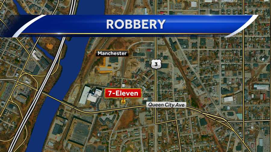 A 7-Eleven in Manchester was robbed Friday night.