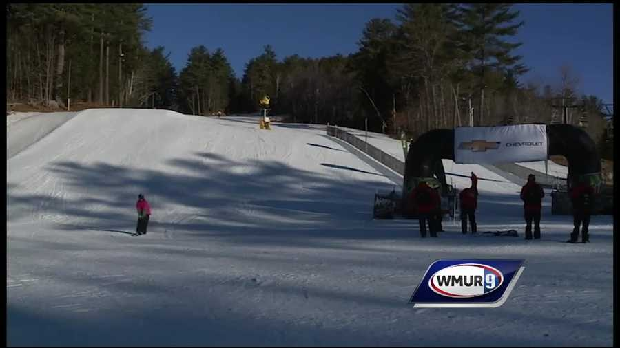 Skiers and boarders shredded all day and all night at King Pine Ski Area for a good cause.