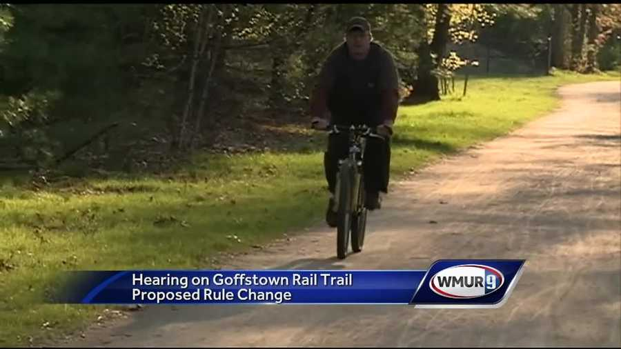 Town leaders in Goffstown are considering a proposal to allow overnight access to the rail trail.
