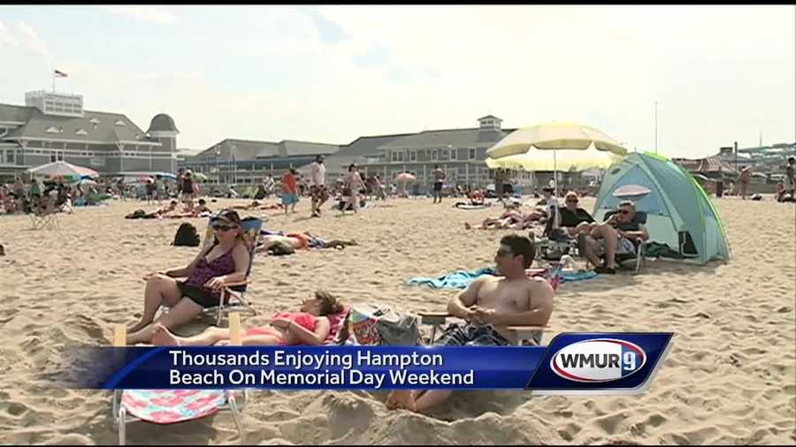 Hot weather on Memorial day weekend brings thousands of people to Hampton beach.