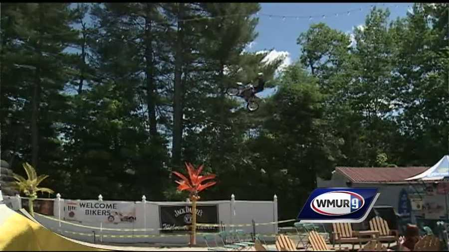 As Laconia Motorcycle Week is winding down, spectators enjoyed high-flying stunts in Concord.