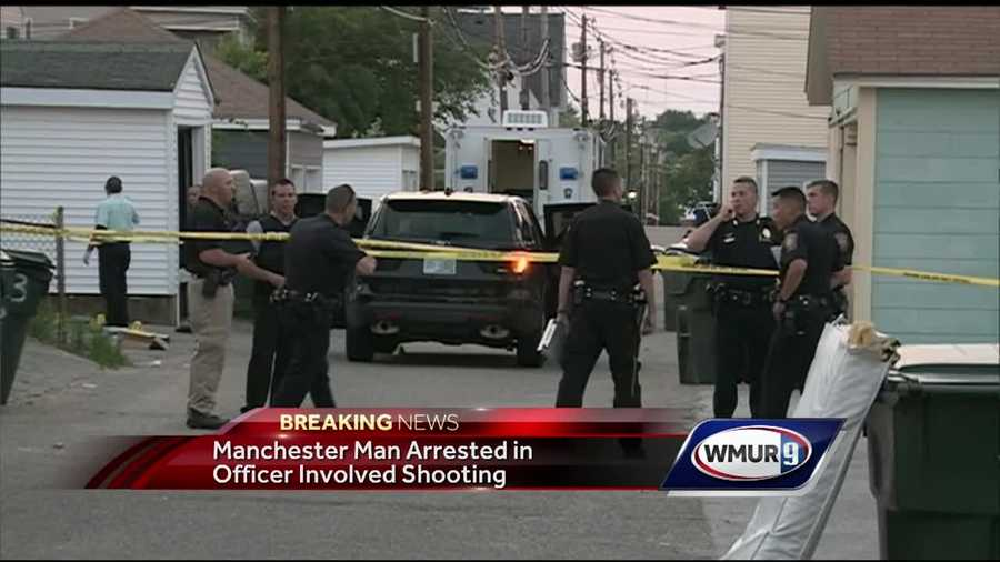 Manchester police investigated an officer-involved shooting Monday night.