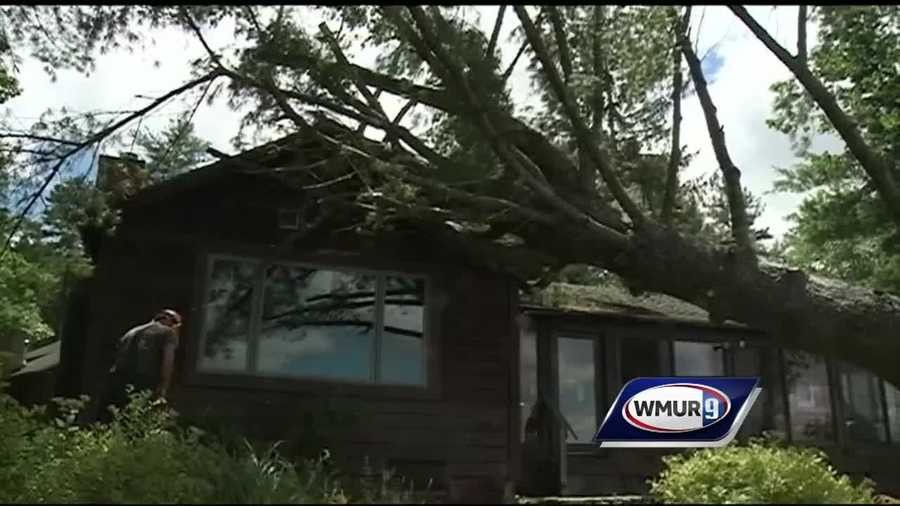Intense storms damaged several homes Monday in Madison.
