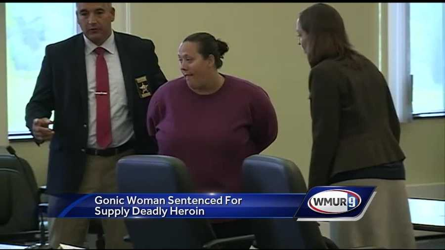 A Gonic woman was sentenced to prison Thursday after admitting she gave a lethal dose of heroin to a man.