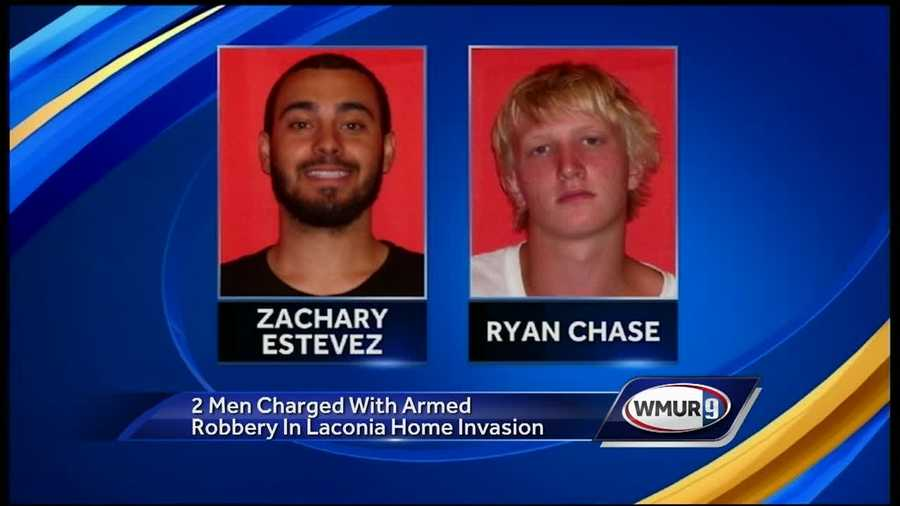 Police in Laconia said they are searching for a third man wanted in a violent home invasion Tuesday night.