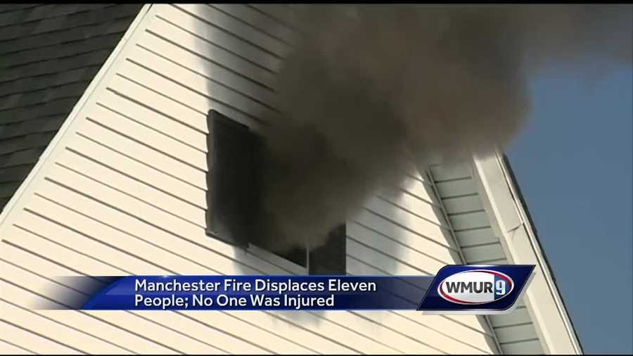 Eleven Manchester residents were displaced in a fire Tuesday morning.