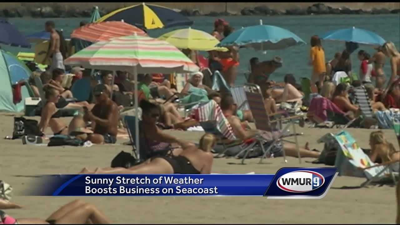 The long stretch of dry weather has been tough for many in New Hampshire, but for businesses that rely on sunny weather, it has been a boon.