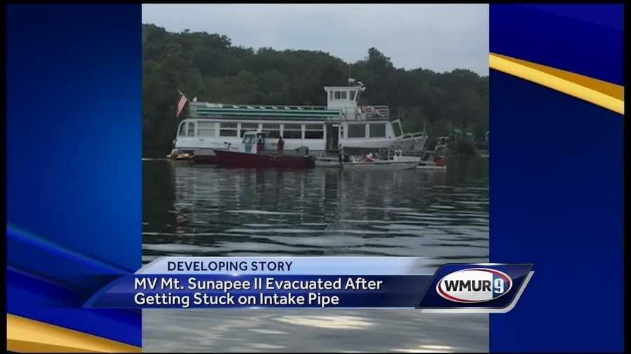 The MV Mt. Sunapee II Tour Boat became stuck in Lake Sunapee Thursday night.