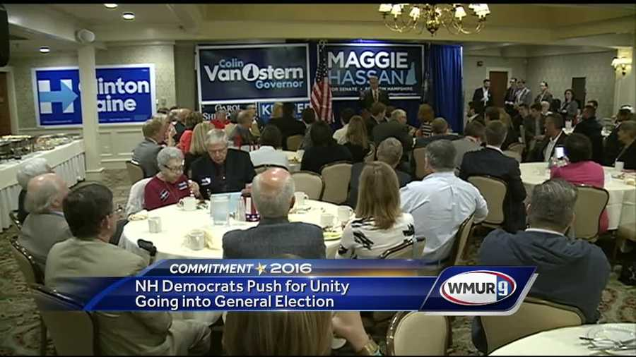 Two days after the primary votes were cast, Granite State Democrats gathered Thursday to settle their differences and look ahead to November.