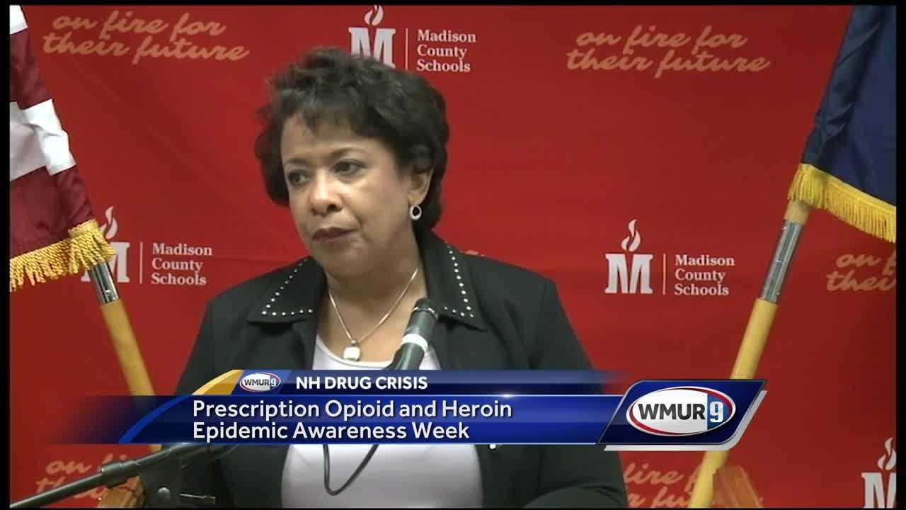 U.S. Attorney General Loretta Lynch is bringing attention to the opioid and heroin abuse epidemic in the nation's schools.