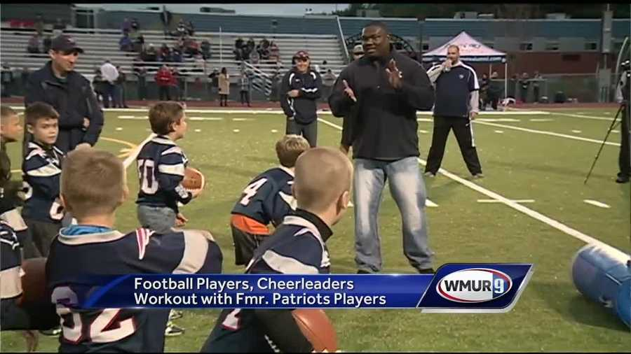 A hundred young football players and cheerleaders in Amherst got the opportunity of a lifetime.
