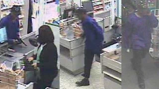 Police are trying to identify the man who stole $295 from the cash register.