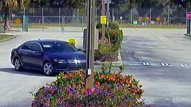 This car was captured on surveillance video in the area at the time of several vehicle burglaries in Stuart.