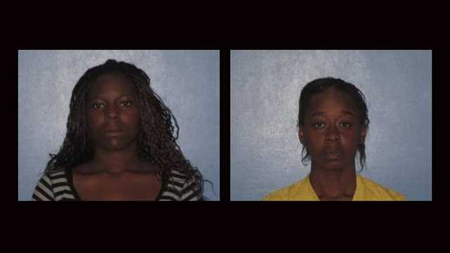 Nicole Johnson (left) and Shaqanda Williams were arrested in connection with a home-invasion robbery in Okeechobee.