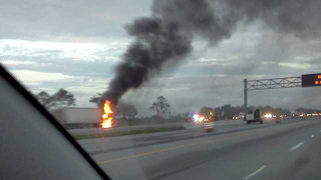 A u local user submitted this picture of the I-95 fire via the WPBF 25 News mobile app. View and share breaking news photos on WPBF.com's u local right here.