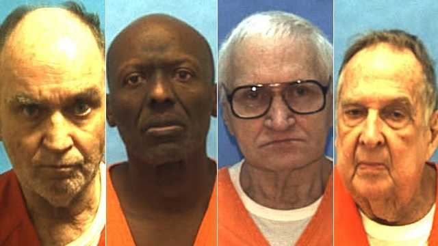 These are the faces of the 40 inmates on Florida's death row over the age of 65.