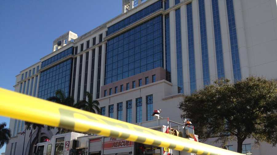 West Palm Beach firefighters were called to the Palm Beach County courthouse for a white powder scare.